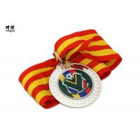 Quality Blank Metal Custom Award Medals , commemorative medals With Epoxy Sticker Logo wholesale