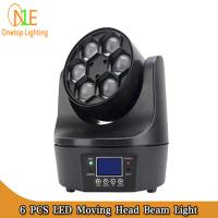 Quality Guangzhou Factory Stage 6 PCS 10W 4in1 Small Bee Eyes Rotation LED Moving Head Beam Lights wholesale