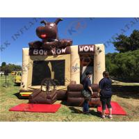 Quality Kids Inflatable Jump Houses Dog Character Cartoon Combo With Slide wholesale