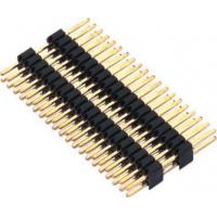 Quality 1.27mm Pin Header Connector Dual Row Double Plastic PA9T Black Pcb Pin Connector wholesale