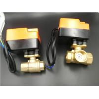 China Efficient Brass Material Motorized Ball Valve For Fan Coil Units 2 Pipe System / 4 Pipe System on sale