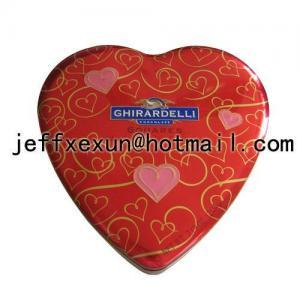 Quality Heart shaped tin box, gift box, heart tins wholesale