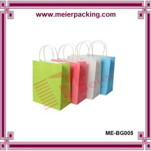 China Custom mall shopping bag/recycled kraft paper bag Medium with Handles ME-BG005 on sale