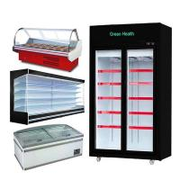 China multi-deck chillers with doors refrigerated display cabinets cooler open freezer for supermarket on sale