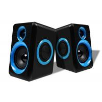 Quality Blue / Black Wired Pc Speakers 2.0 , Small Speakers For Desktop Computer wholesale