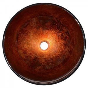 Quality Modern Artistic Glass Bowl Bathroom Vanity Sinks , Colored Bathroom Lavatory Sinks wholesale