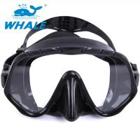 Quality Tempered Glass Lens Silicone Diving Mask With Food Grade Liquid Silicone Skirt wholesale