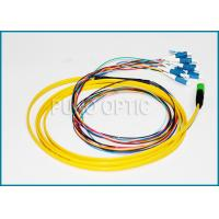 Quality 12F LC MPO Fiber Optic Cable , 2.0mm Fanout Kits Single Mode SMF Patch Cord wholesale
