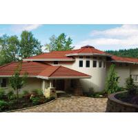 Buy cheap Corrugated Double Roman red / brown Low Pitch Roof Tiles , Wave roofing shingle product