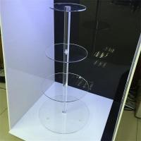Quality Handmade Acrylic 4 Stairs Cake Stand Display Rack wholesale