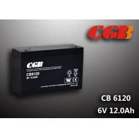 Quality CB6120 charging high capacity AGM Lead Acid Battery 6V 12AH Anti Erosion Alarm System wholesale