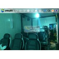 Cheap 9 Persons 7D Movie Theater With Special Effect System , Thrilling Drastic Movement Of Chair for sale