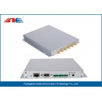 Aluminum Alloy Housing Fixed RFID Reader With 12 Channels Anti Collision Algorithm