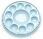 Quality 10 Wells Paint Mixing Palette Art Paint Set , Round Porcelain Watercolour Palette wholesale