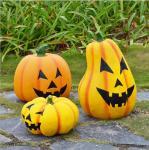 Quality Halloween decoration fiberglass pumpkin lamp sculpture wholesale