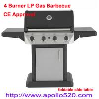 4 Burner LP Gas Barbecue with foldable side table