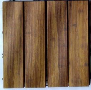 Cheap DIY Outdoor Bamboo Decking Tiles for sale