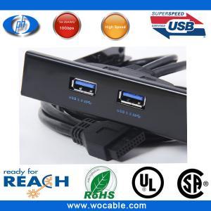 Quality Motherboard USB Female to USB 3.0 2 Ports Hub 3.5 Floppy Bay Rack New wholesale