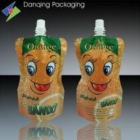 Customized Laminated Liquid Pouch , Plastic Spout Stand Pouch For Juice Packaging