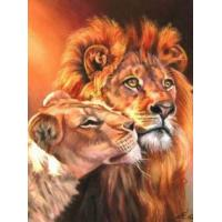 Quality diy tiger home decoration paint on canvas craft Oil Painting By Number 40x50cm Flower wholesale