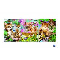 China Wall Art 3D Lenticular Picture Flip Cute Cats And Dolphins With 12X17 Inches on sale