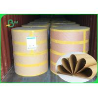 Quality 250 / 300 / 300gsm Good Strenght Surface Glossy FSC Kraft Paper Roll For Packing wholesale
