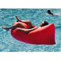 Buy cheap Waterproof Nylon Inflatable Sleeping Bag , Comfortable Inflatable Bean Bag product