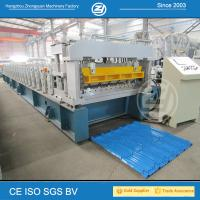 Quality High Speed Step Tile Roll Forming Machine with ISO Quality System , Roll Former Machine wholesale