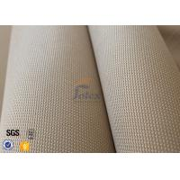 Quality 1150gsm 1.2mm Brown Silica Fabric 800℃ Alumina Silica Thermal Insulation wholesale