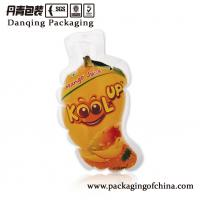 Quality Custom Fruit Shaped Injection Liquid Pouch for Mango Drink Packaging Bag wholesale