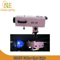 Quality HMI 1200W Follow Spot Light Steady Professional Zooming Stage Lighting wholesale
