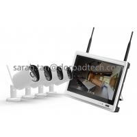 Quality 720P 4CH LCD Screen NVR Wireless IP Camera with Monitor Kit 4 Channel Home Security CCTV Kits wholesale