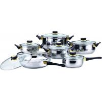 China 12 PCS Kitchen Stainless Steel Cookware Sets with Black Bakelite Handle on sale