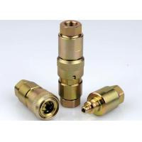 China Poppet Valve High Pressure Hydraulic Couplings , Chrome Three High Pressure Fittings on sale