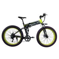 China 48v 10AH Fat Tire Electric Bike , Foldable Electric Bicycle With Hidden Battery on sale
