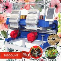 China 400*500mm two head embroidery machine 15 needles cap t-shirt flat 3d sequin commercial embroidery machine for sale on sale