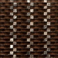 Quality Chocolate 12x12 Stone Glass Mosaic Tile Backsplash For Kitchen Wall wholesale
