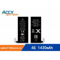 Quality ACCX brand new high quality li-polymer internal mobile phone battery for IPhone 4G with high capacity of 1430mAh 3.7V wholesale