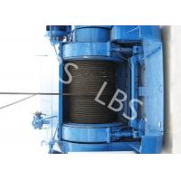Quality Mining Underground Hydraulic Crane Winch High Strength Steel With Bule / Yellow Color wholesale