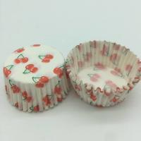 Quality Cherry Pattern Greaseless Cupcake Liners, Muffin Cake Paper Cups For Children Party wholesale