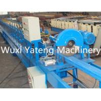 Buy cheap Downspout Metal Roofing Roll Former With Crimping Machine , Post / Tube Forming Machine 8 Ton product