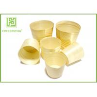 Quality Smooth Healthy Wooden Sushi Boat Disposable Poplar Wooden Cups For Sauce wholesale