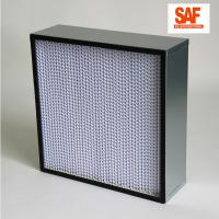 Quality Deep Pleat High Efficiency Media Filter , Galvanized Frame H14 Hepa Filter wholesale