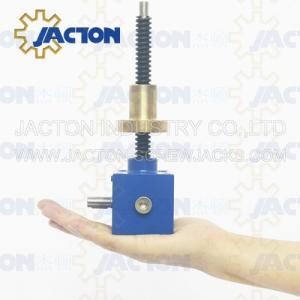China screw lift mechanism gear box lift Rotating custom-made motor drive worm screw jack Rotated screw gear worm drive on sale