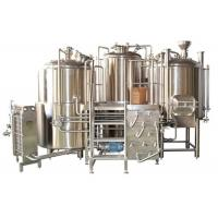 Quality Customized Stainless Steel 3 Vessel Brewhouse With 50-100mm PU Insulation wholesale
