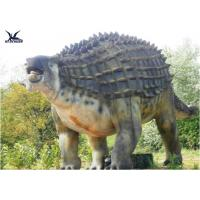 Quality Animatronic Outdoor Dinosaur Statues , Dinosaur Yard Decorations With Infrared Ray Sensor wholesale