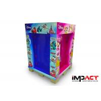 3 Shelfs Corrugated Pop Displays Ready Pallet With Plastic Hooks , Recycled Materials