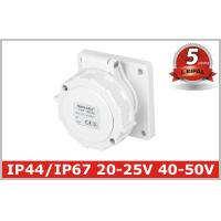 Quality IP67 Low-voltage Industrial Power panel mounted Socket 2P, 2P+E , 20V-25V,40V-50V, 16A,32A 5 Years Warranty wholesale