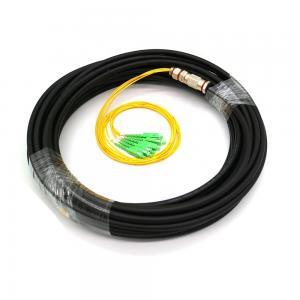 China 4/6 Core Waterproof Fiber Optic Pigtail Single Mode SC APC Black PE Jacket on sale