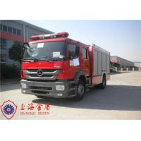 Quality Six Seats Foam Fire Truck Benz Chassis Wheelbase 4500mm With Air Conditioner System wholesale